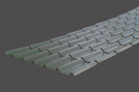 Anti-condensation tile effect roofing sheet