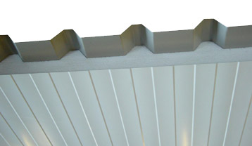 Roofing sheet cut-back